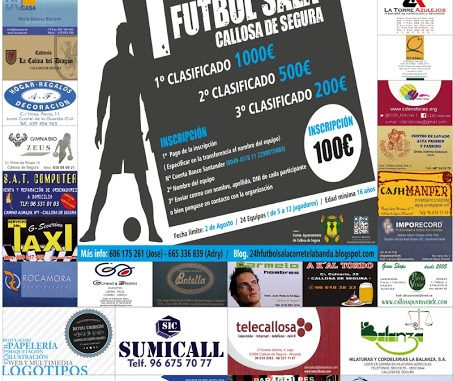 CARTEL torneo futbol sala 24h