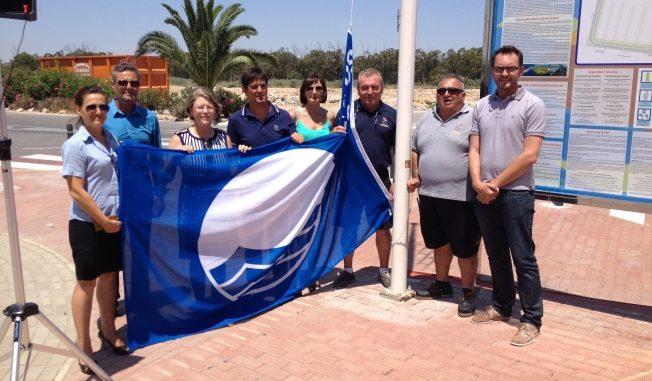 Guardamar bnadera Azul puerto