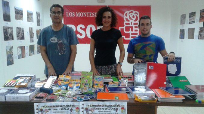 Material escolar PSOE Los Montesinos