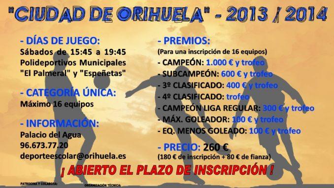 Cartel XVIILigaLocaldeFtbolSala2013-2014