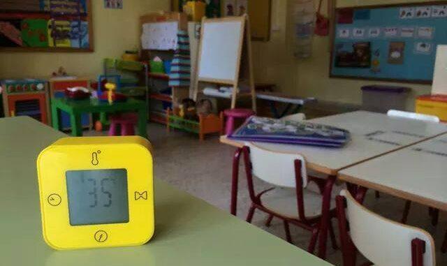 Altas temperaturas en clase