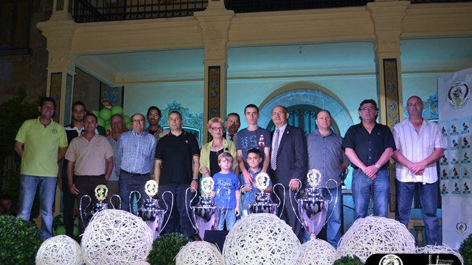 colombicultura Jacarilla mayo 2015 podium de campeones