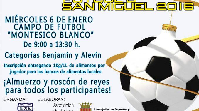 Cartel I Torneo Solidario Futbol 8 San Miguel