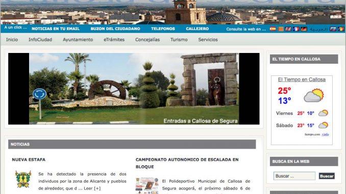 web ayuntamiento pantallazo
