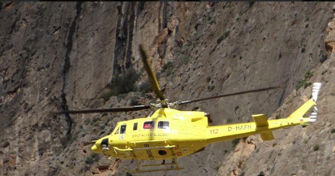 rescue helicopter sierra de callosa