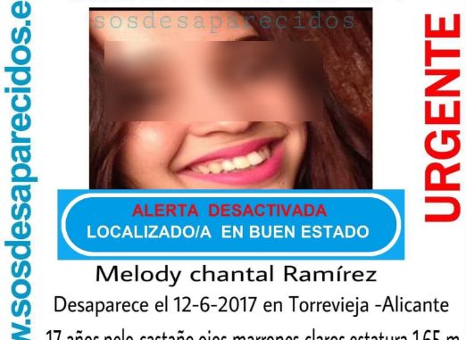 melody chantal missing poster