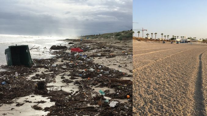 playa higuericas before after