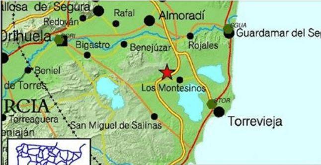 earthquakes los montesinos