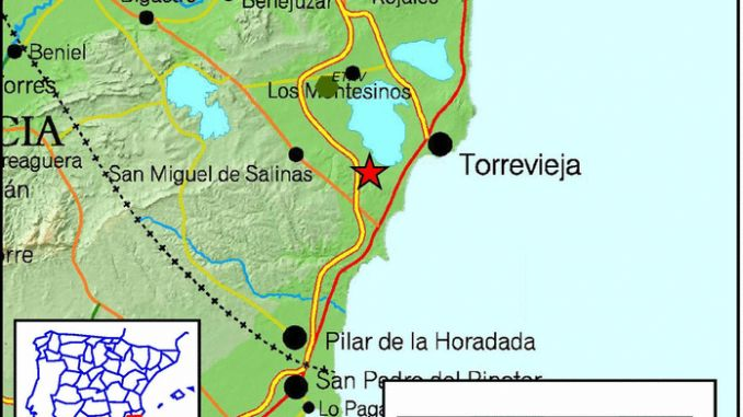 torrevieja earthquake map
