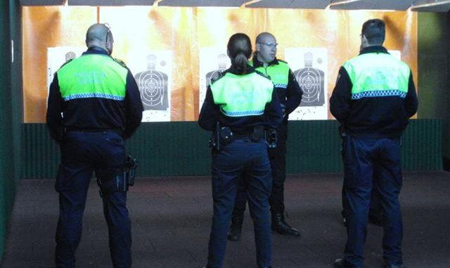 Policía tiro