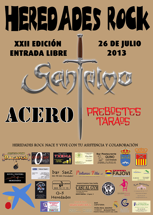 Heredades Rock 2013 Cartel
