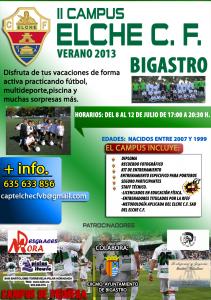El II Campus Elche CF tendrá como sede el municipio de Bigastro