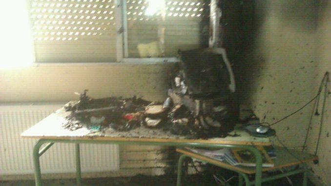 incendio colegio San Bartolomé