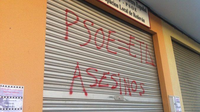 Pintadas PSOE ETA
