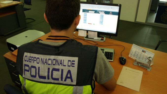 Policia Nacional trabajando
