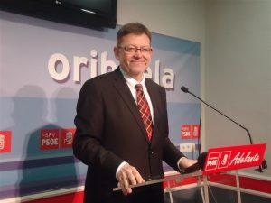 """""""Si soy elegido presidente de la Generalitat Orihuela saldrá del olvido al que le ha sometido el PP"""""""