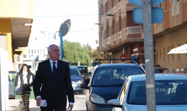 Domingo Soler llegando al juzgado