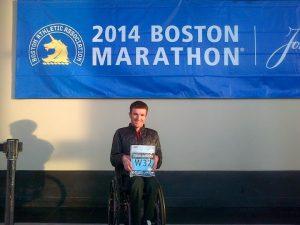 Santiago Sanz consigue en la mítica Maratón de Boston batir varios récords de la prueba y pulveriza el récord de la Boston Marathon