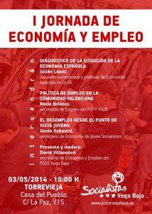Los socialistas de la Vega Baja analizan la situación económica del país en una jornada informativa