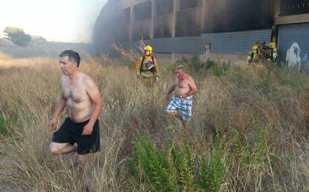 incendio playa flamenca