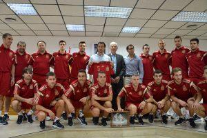 El alcalde de Torrevieja recibe a la Selección Española de Fútbol Sala