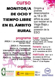Convega oferta un curso gratuito de Ocio y Tiempo Libre en el Ámbito Rural