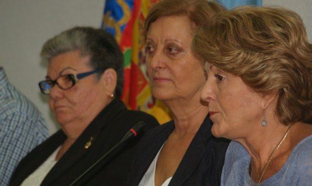 Rosario Carmona, Mamen Mateo y Mari Luz Martínez