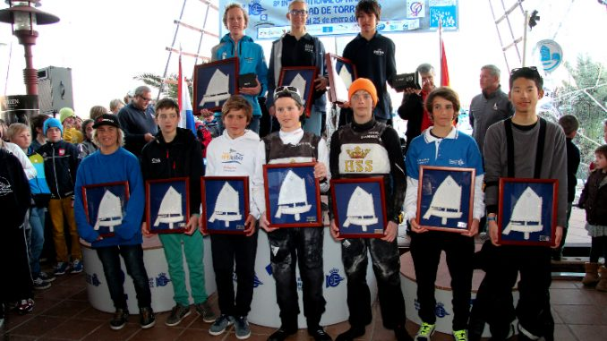 podium trofeo internacional optimist ciudad torrevieja