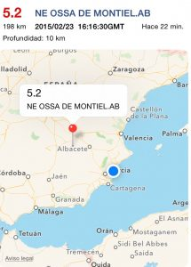 Un terremoto con epicentro en Ossa de Montiel (Albacete) se deja sentir levemente en la Vega Baja