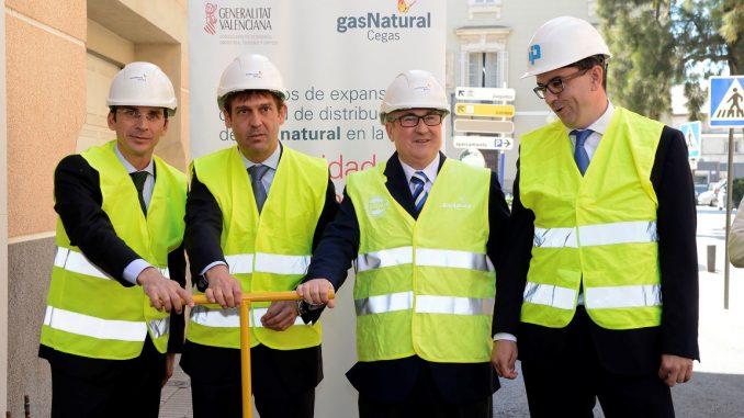 Gas natural apertura llave