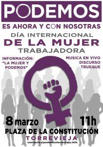 Podemos Torrevieja  organiza un acto de conmemoración del Día Internacional de la Mujer