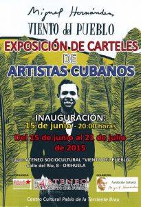 El Ateneo acoge la exposición de carteles cubanos 'Miguel Hernández. Viento del Pueblo'