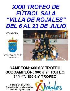 Abierto el plazo de inscripción para participar en el  XXXI Torneo de Fútbol Sala 'Villa de Rojales'