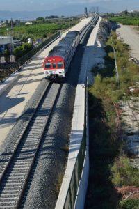 Suspendido el tráfico ferroviario entre Orihuela y Murcia