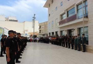 La policía pilareña celebra su patrón con la presencia de policías de municipios vecinos