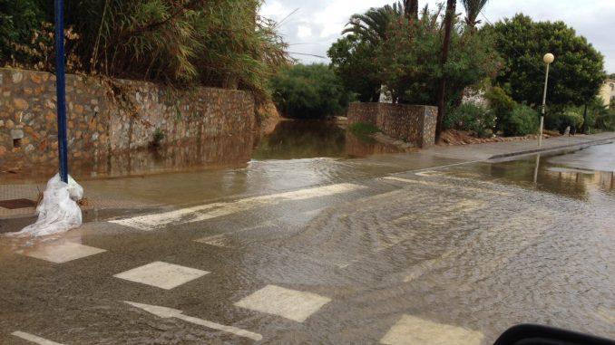 Cabo Roig inundación