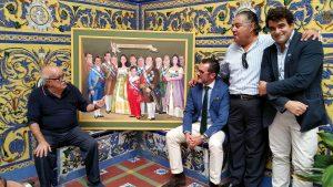 Alfonso Ortuño inmortaliza a la junta directiva del Casino Orcelitano