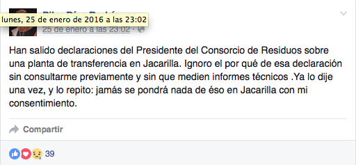 no vertedero Pilar Díaz Jacarilla