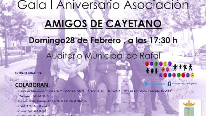 Cartel Gala Asociación Amigos de Cayetano