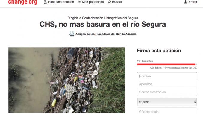 petición CHS no más basura