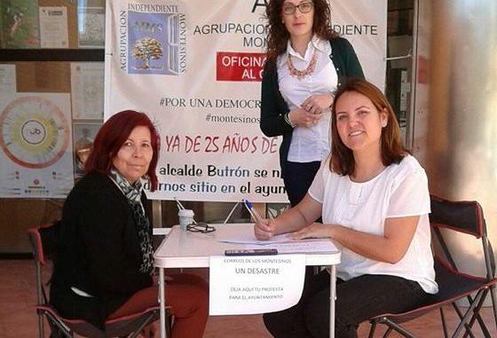 Correos recogida de firmas Los Montesinos abril 2016