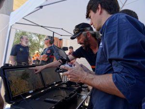 Los servicios de Emergencias realizan un simulacro de rescate con drones en la sierra de Orihuela