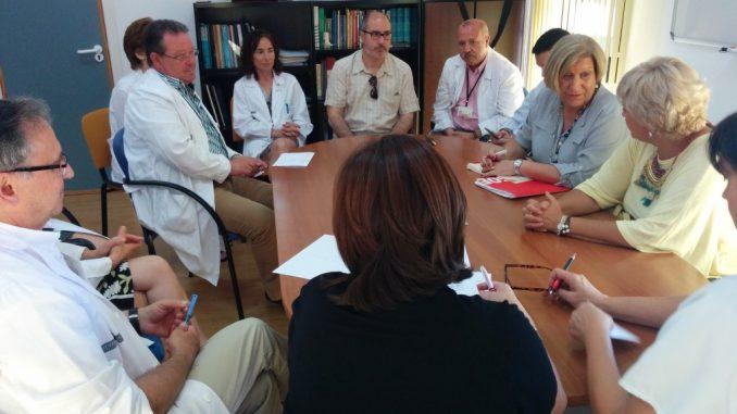 Llinares y Moreno en el Hospital Vega Baja