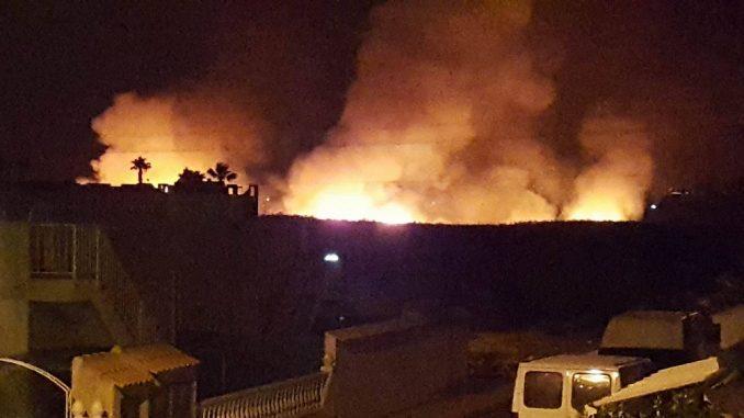 incendio parque natural torrevieja 14 7 16