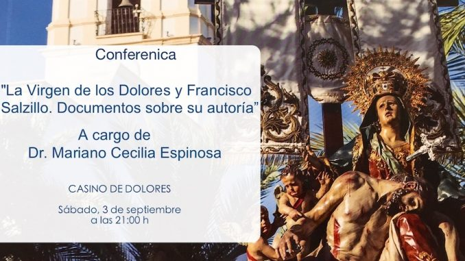 Cartel Conferencia La Virgen de los Dolores