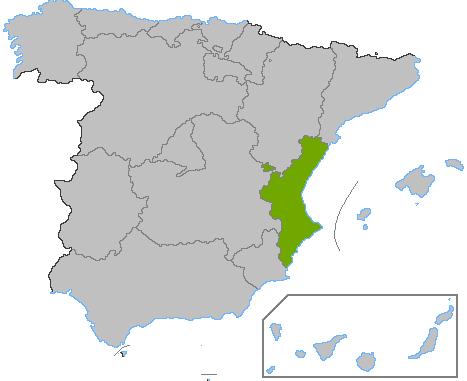 Localización Comunidad Valenciana