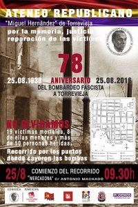 El Ateneo Republicano organiza un homenaje a las víctimas del bombardeo fascista de 1938