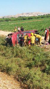 Una mujer herida tras salirse de la vía en la CV-91 en Guardamar