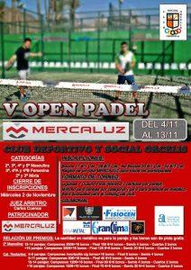 El Club Orcelis organiza su V Open de Padel