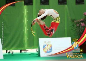 Rubén Gil, campeón de España en gimnasia rítmica
